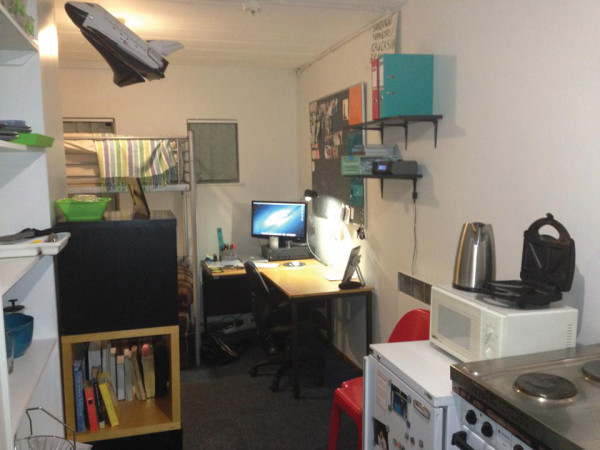 Botha's pimped out room in West Campus Village