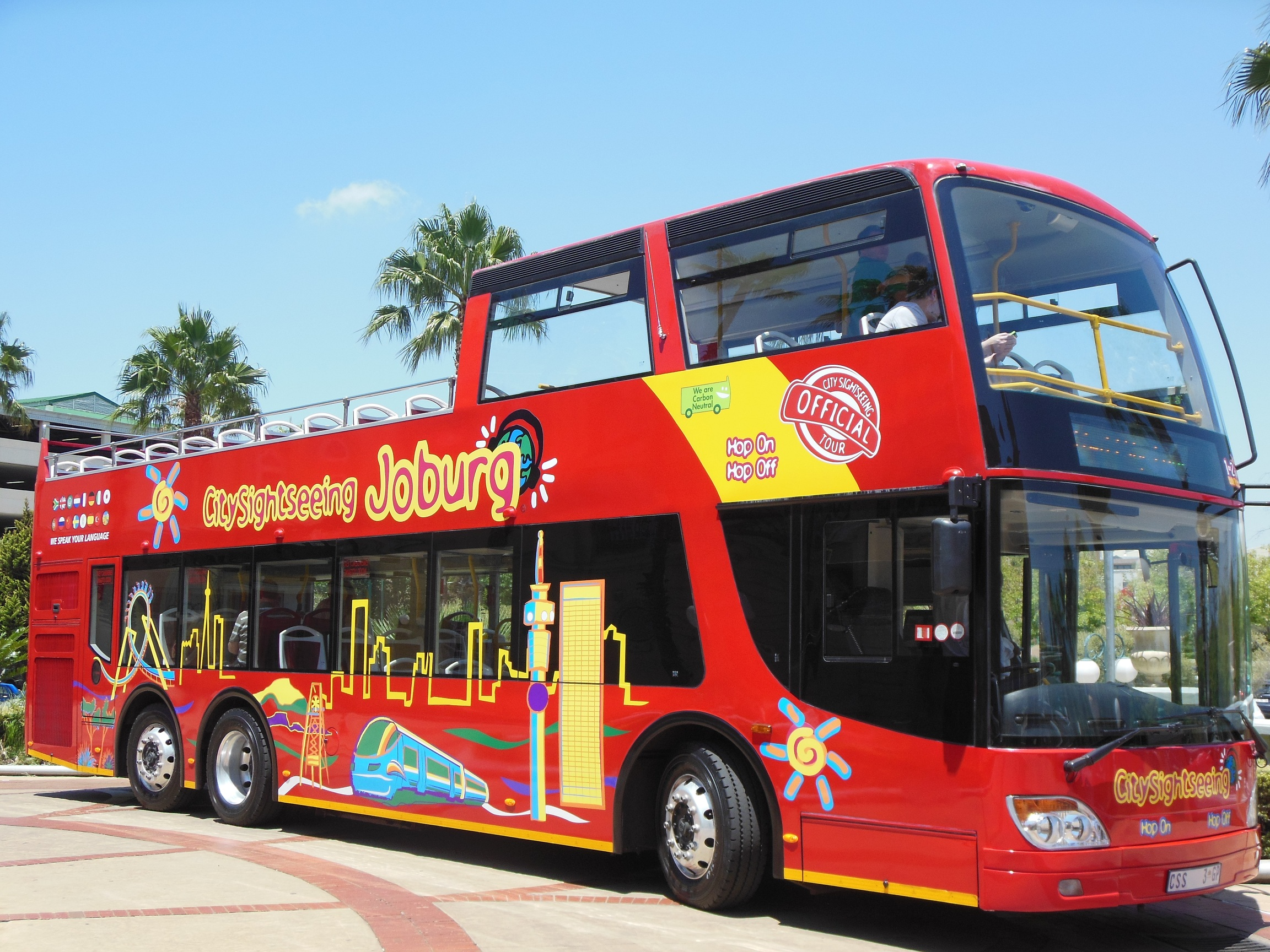 City Sightseeing Buses come to Jozi. Pic: Anina Mumm