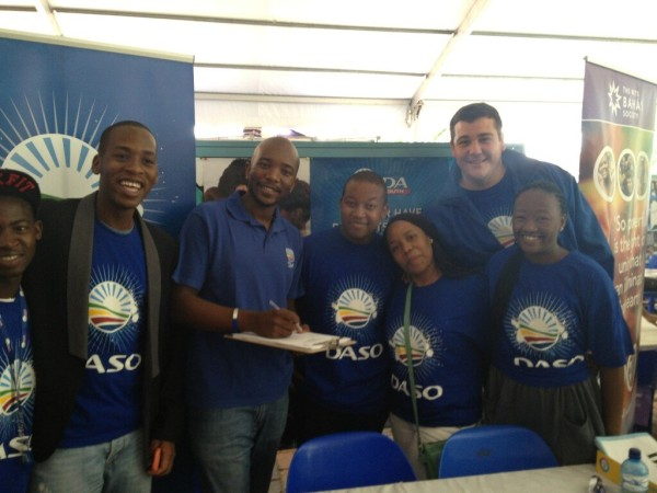 """""""Signing up for membership"""" - photo posted by @MmusiMaimane on Twitter during his visit to Wits on Tuesday February 4."""