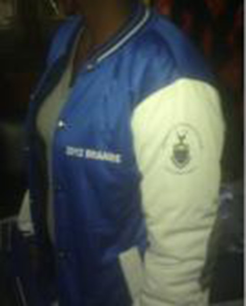 One of the Braamfontein res jackets for sale at a store in Lagos.