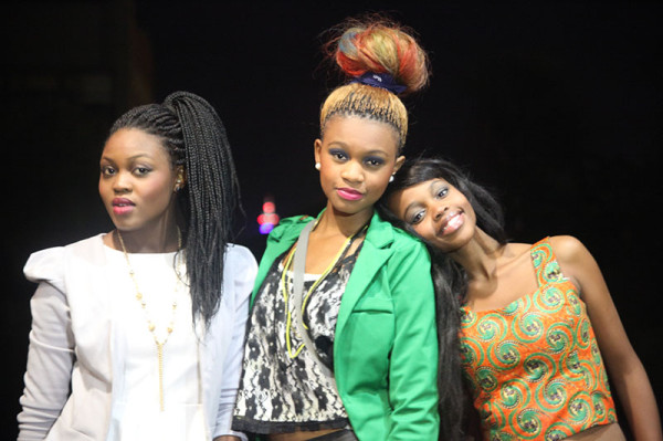 Carmen Matlhako, Luyanda Mkhize and Candy Khoza, walked at the launch of Candid Devout's clothing line.