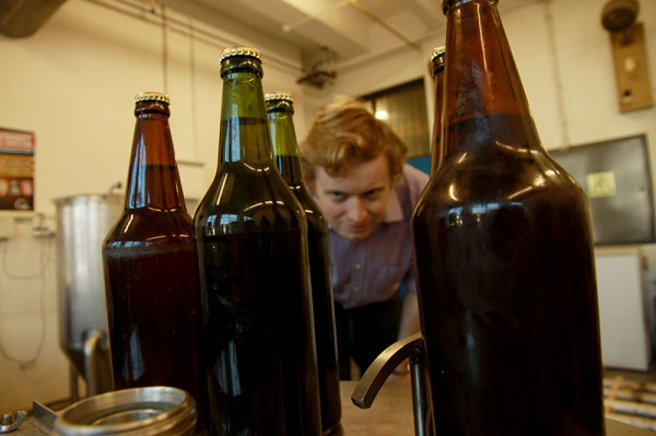 The science of thirst: Antony Higginson, associate lecturer at the School of Chemical and Metallurgical Engineering, heads up Wits's micro brewery. The team recently brought a 9 000-year old beer recipe to life.  Photo: Mfuneko Toyana