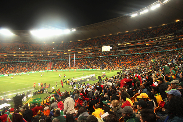 FNB Stadium: South Africans came from all walks of life to show their support.