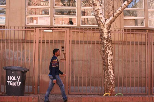 Let us in: The security coded gate that trinity residents may soon use to access main campus.  Photo: Nomatter Ndebele
