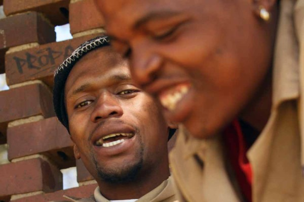RURAL WORKERS?: Wits landscape workers categorized as rural farm workers in order to pay them rural minimum wage.  Servest workers Tshepo Mabe and Hope Mofokeng                                                                                           Photo: Thuletho Zwane