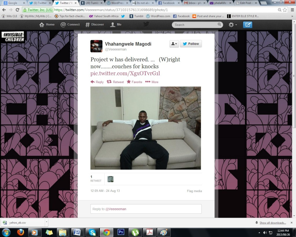 COMFY: A screengrab of a student breaking in one of the new couches at Knockondo residence.