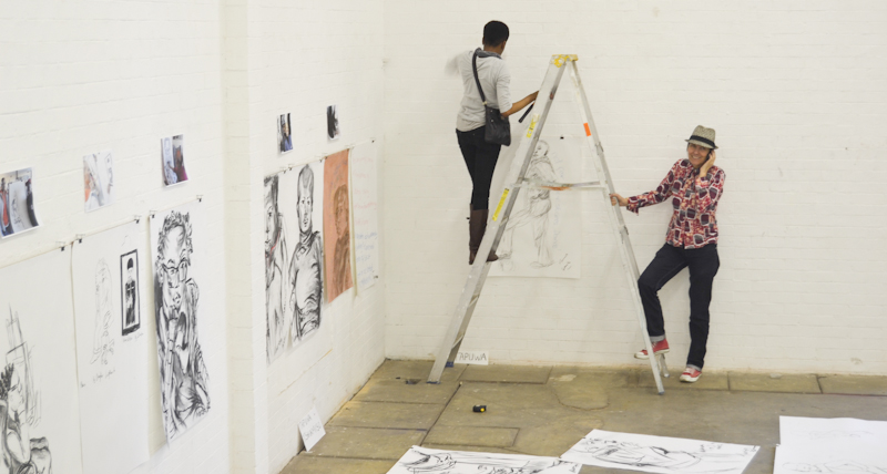 WHITE NOISE: The exhibition Substation art gallery was poorly attended. Photo: Pheladi Sethusa