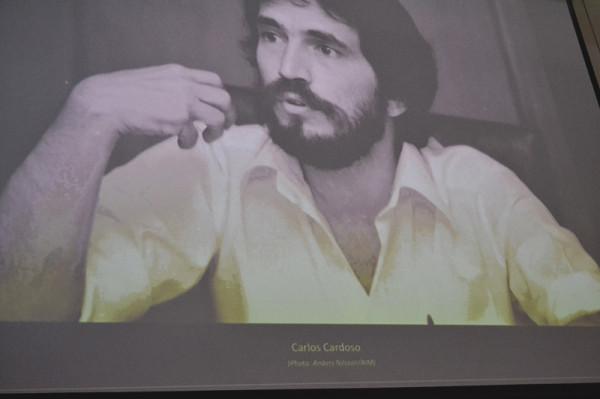 Late Mozambican journalist Carlos Cardosa was honoured at the Power Reporting 2103. Photo: Emelia Motsai