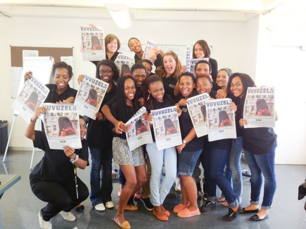 THE WINNING TEAM:  Wits Vuvuzela will be awarded the Vice Chancelor's Transformation Team Award in the student category for their work in exposing sexula harassment on campus. Photo: Dinesh Balliah