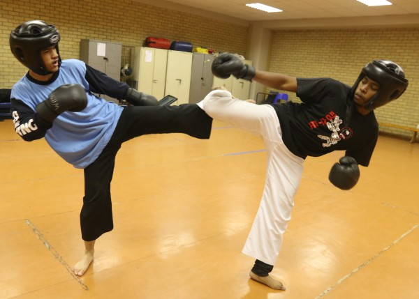 KICKING IT: Kim Lucas and Mlami Ncontsa train for the South African Championships  to be held on Saturday, April 12 Picture: Lameez Omarjee