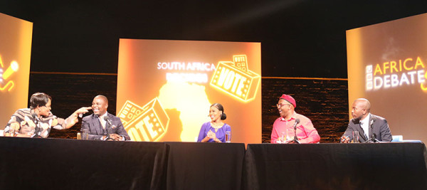 SILENT WARS: The ANC, EFF and DA debate over whether democracy is delivering.  Photo: Thabile Manala.