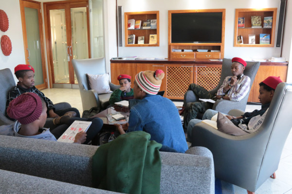 Six Wits EFF members continue to occupy the 11th floor of Senate House. Photo: Tendai Dube