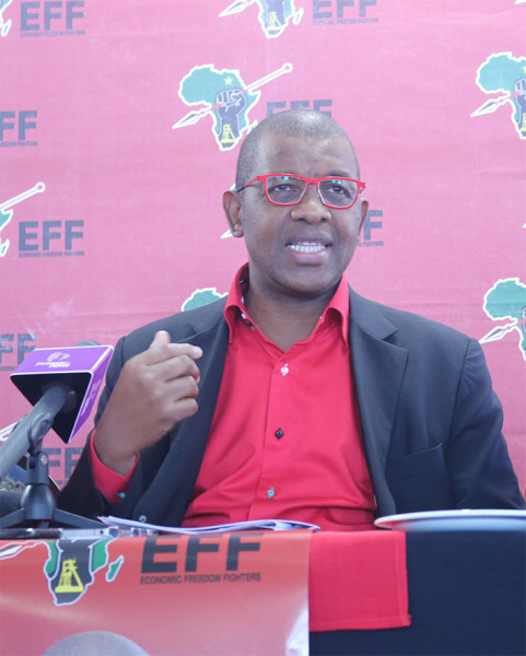 Premier Candidate Advocate Dali Mpofu addressing the media on  issues relating to the elections and the 100 day plan for Gauteng.