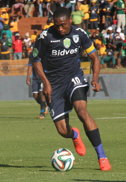 CAPTAIN FANTASTIC: Sibusiso Vilakazi battles away in their Nedbank Cup win over Kaizer Chiefs. Photo: Luca Kotton