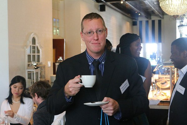 TEA TIME: Ryan Blumenthal, author of Mentalist Martial Arts, spoke about his book. Photo: Lutho Mtongana