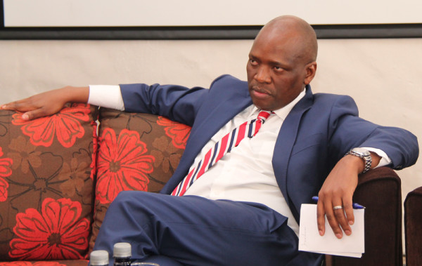 UNDER FIRE : Hlaudi Motsoeneng, SABC COO listens to questions from audience members at Johannesburg Radio Days conference.