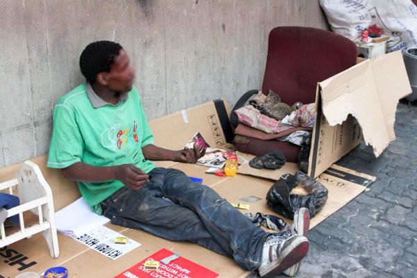 The homeless of Johannesburg face extraordinary challenges particularly in winter. Photo: Kudzai Mazvarirwofa