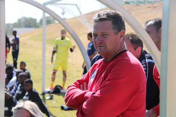 READY FOR ACTION: Bidvest Wits coach Gavin Hunt looks on as his team tackle Platinum Stars in a friendly match at Sturrock Park before the new season.