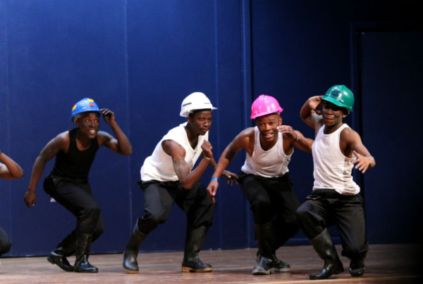 SHOWSTOPPERS: Esselen Drumbooters won first place at the 2014 All Res Council Talent Show. The beat of their boots left the crowd wanting more when they left the stage. Photo: Nqobile Dludla