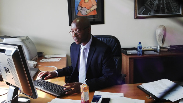 REGULATION WAR: Deputy Vice-chancellor Tawana Kupe outlines effects the new immigration regulations will have on the functioning of the university.       Photo: Palesa Tshandu