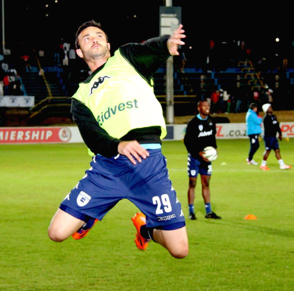 Flying High: Dillon Sheppard warms up before Bidvest Wits draw with AmaTuks. The Clever Boys have four points and are in top half of the table. Photo: Luca Kotton