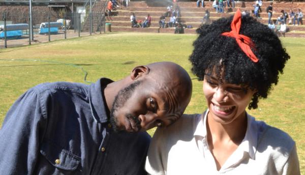 Pelonomi Moiloa  and Itani Thalefi are the duo who started the band 8 Bars Short two years ago. Photo: Rofhiwha Madzena
