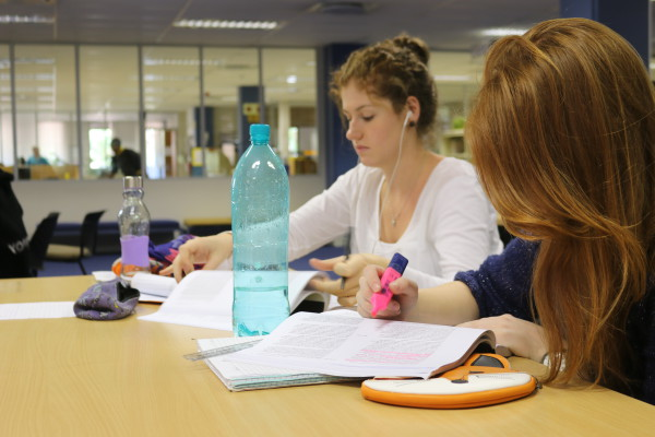 Heated Up: Wits students are struggling to be productive in the Wartenweiler library on East Campus.     Photo: Tendai Dube
