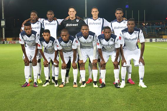 Bidvest Wits team before the kick off at the Bidvest stadium on Friday night. Photo: Sinikiwe Mqadi