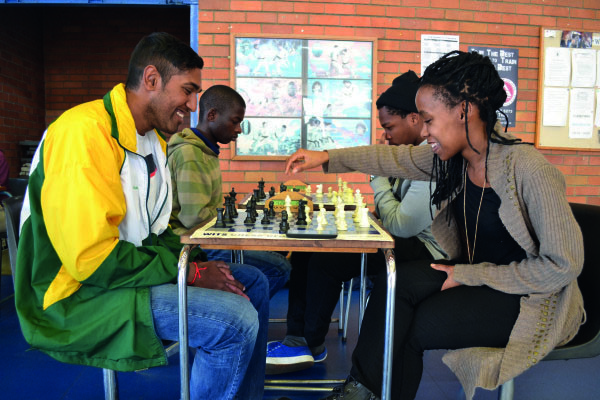 CHECKMATE: Wits Chess Club chair, Evasan Chettiar (left) holds full SA colours and the World University (FISU) colours. He represented University Sports South Africa at the World University Chess Championship held in Katowice, Poland, forming half of the South African team. Photo: File
