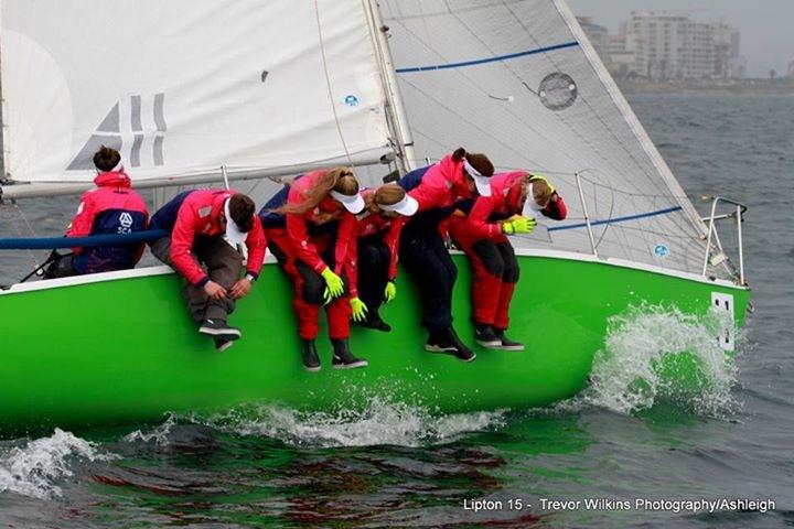 Six sailing Ladies