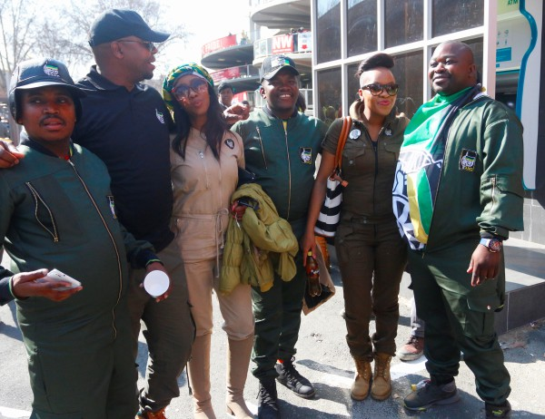 ASINAVALO: A group of ANC supporters wearing branded jumpsuits. Photo: Nokuthula Zwane