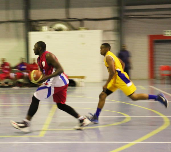 BOUNCING LOSS : The Wits Horny Bucks basketball team playing against Vaal University of Technology, on Tuesday. Photo: Nokuthula Zwane