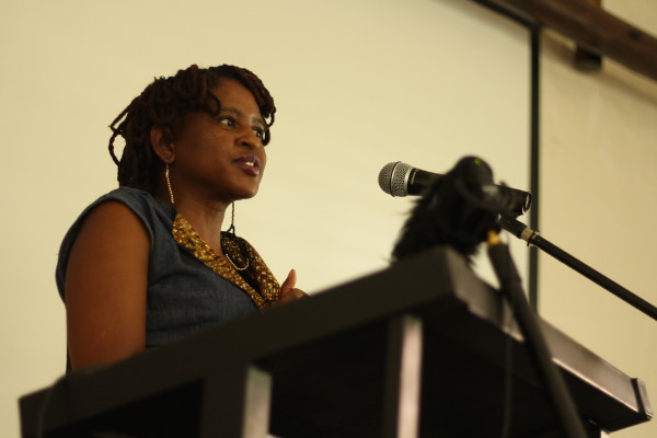 Mahlatse Gallens, SANEF Chairperson, at the launch of the State of the Newsroom Research Report at Wits University today. Photo: Chante Schatz.